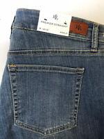 Ralph Lauren Premier Straight Ankle Women's Raw Hem Jeans Size 12 / 31 NWT