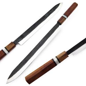 """WHITE DEER Japanese Shape 17.5"""" Forging Hammer TANTO Kitchen Chef Knife"""