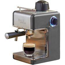 Cooks Professional Espresso Coffee Machine Cappuccino Latte Maker Graphite 4 cup