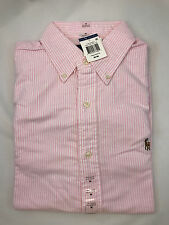 NWT Mens Polo Ralph Lauren Classic Fit Buttondown Oxford Shirt Pink/White Size M