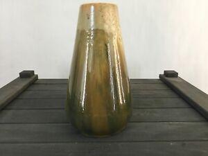 grosse Jugendstil Keramik Vase Laufglasur