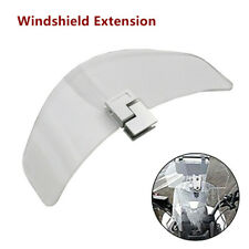 Motorcycle Clamp-On Wind Deflector Windscreen Spoiler Shield Accessories Clear