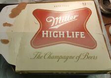 Miller High Life Beer 12 Pack 12oz Long Necks Bottle Holder Carrier Carton Empty