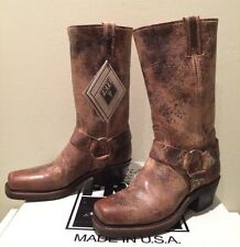 FRYE HARNESS 12R BOOT CLASSIC LEATHER VINTAGE TAN BROWN WESTERN COWBOY SZ 6
