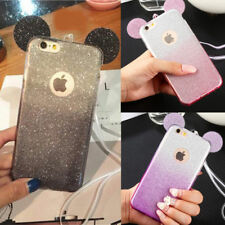 Minnie Mickey Mouse Ear Bling Glitter TPU Case Cover For iPhone 5 6s 7 8 Plus X