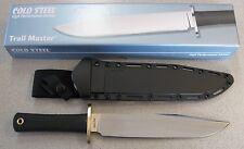 NEW Cold Steel Trail Master 39L16CT Bowie Knife & SecureEx Sheath O-1 Steel