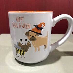 "(1) SHEFFIELD HOME Halloween Dogs ""HAPPY HOWL-O-WEEN"" Coffee MUG Stoneware"