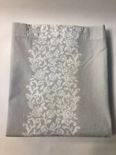 Simply Shabby Chic Pale Gray Floral Scroll Shower  Curtain EUC