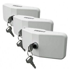 3x Cierre Seguridad Thule Door Lock Blanco Llaves Cerradura Autocaravana Puerta