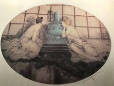"""Lithographie de Louis ICART """"La Confidence"""" (1926)"""