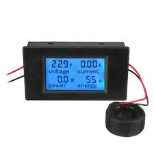 AC 80-260V 100A Digital Current Voltage Amperage LCD Power Meter DC Volt Amp