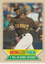 2017 HERITAGE HIGH NUMBER MANNY MARGOT OF PADRES ROOKIE #NT-6 NOW AND THEN SP