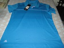 WOMENS ADIDAS PUREMOTION GOLF SHORT SLEEVE POLO SHIRT L LARGE BLUE/LILAC NWT
