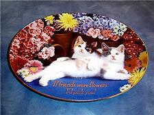 Friendship Blossoms Nancy Matthews Cat Kitten Plate