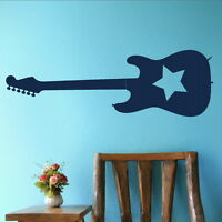 RockStar Guitar Music Wall Stricker / Home Vinyl Art Decal / Music Transfer MU12