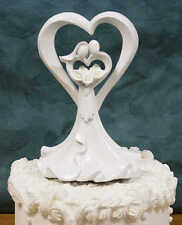 Resin Bride, Groom and Calla Lily Wedding Cake Topper