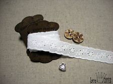 """14Yds Broderie Anglaise Eyelet cotton lace trim 0.7"""" white YH1239 laceking2013"""