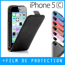 Coque, Housse, Etui, Cover - iPhone 5C - CUIR - LEATHER FLIP CASE