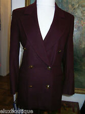ESCADA By LEY Cashmere JACKET Wool Angora 6 4 34 Blazer Burgundy Coat