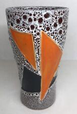Vase Glass Fabric Fat Lava Lamp Retro Vintage Signed Vallauris
