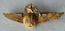American Airlines Gold Fill Flight Attendant Wings Supervisor Pin Vintage