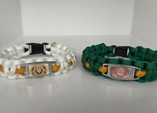 Mighty Morphin Power Rangers: Tommy, Green And White Ranger Paracord Bracelets