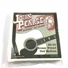 John Pearse Guitar Strings Acoustic New Medium #310NM Bronze Wound