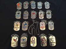 3 NFL Licensed Team Dog Tags New in packaging You pick 3 of any that are listed