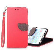 XUNDD Leaves Buckle PU Leather Carrying Case with Stand iPhone 6 Red/Brown