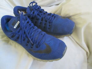 NIKE AIRMAX 2016 BLUE MESH RUNNING SHOES, SIZE 11.5M