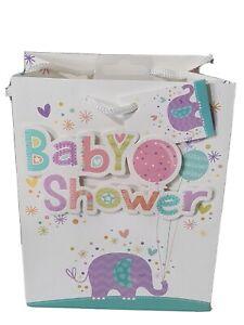 Gift Bags. Medium Portrait Baby Shower Elephant 🐘 18x19cm