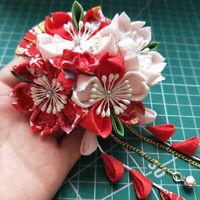 Sakura Tsumami zaiku kanzashi Hair pin Japanese Geisha Kimono Yukata Accessory