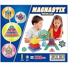 Magnastix 3D magnet puzzle 228 pieces Educational toys F/S w/Tracking# Japan New