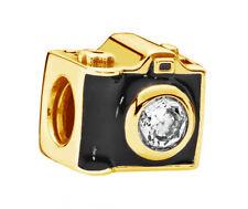 New Genuine Pandora Camera Charm 18K Gold Vermeil 791709CZ