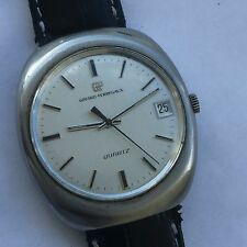 VINTAGE GIRARD PERREGAUX quartz original watch BIG