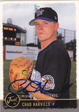 CHAD HARVILLE MIDLAND ROCKHOUNDS SIGNED CARD OAKLAND A'S RAYS ASTROS RED SOX