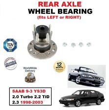 para SAAB 9-3 YS3D 2.0 SE Turbo 2.2 TiD 2.3 1998-2003 Cojinete de rueda del eje