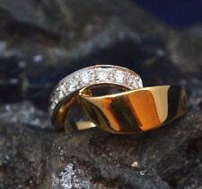 Exklusiver Ring aus 750/18k Gelbgold & Weißgold | Diamanten