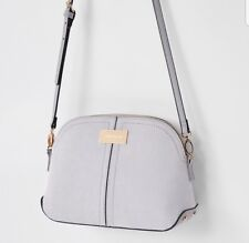 284d6c89b River Island Women's Light Grey kettle cross body Body Bag / Shoulder Bag