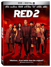 Red 2, DVD, 2013, New, Free Shipping.