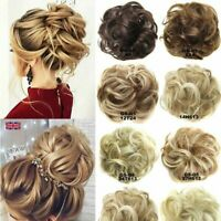 As Real Human Curly Messy Bun Updo Hair Piece Scrunchie Hair Extensions UK