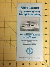 Vintage Brochure Ship Island Ft. Massachusetts Island Excursion Gulfport MS