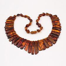 Natural Baltic Amber Adult Choker Necklace - Cognac Color