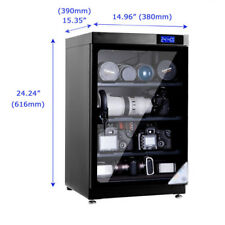 80L 4 Shelf Dehumidify Dry Cabinet Box & Lens Camera anti-mold storage