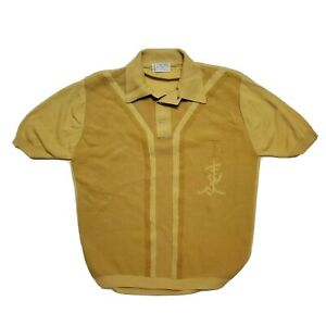 1960s TOWNCRAFT BAN-LON Knit Shirt Vintage Modern Sportswear Pool Beach Stretch