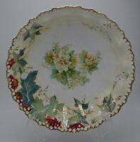 "Silesia Tillowitz RS GermanyRed Mark Porcelain Floral Serving Bowl 9 1/4"""