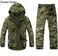 Outdoor Winter Hunting Mens Jacket 2PCS Coat +pants Waterproof Coat Thicken Hot