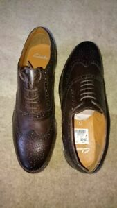 Clark's 'Chirm Ride' Brown Leather Shoes 7.5
