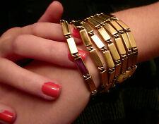 KATE SPADE NEW YORK GOLD RUSH MULTI STRAND BARS SWISHY STRANDS BIG BOLD BRACELET