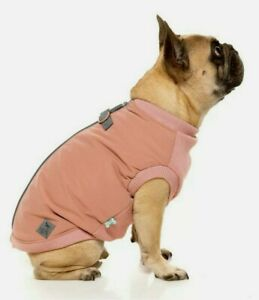 Size 3 PUG Dusty Pink MacGyver HARNESS JACKET by FuzzYard - Padded Dog Coat